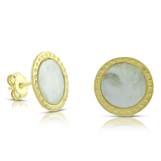 Toscano Mother of Pearl Earrings 14K