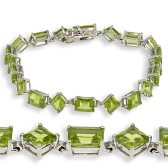 Peridot Bracelet 14K