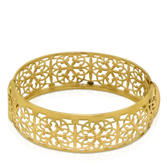 Toscano Collection Floral Bangle Bracelet 14K