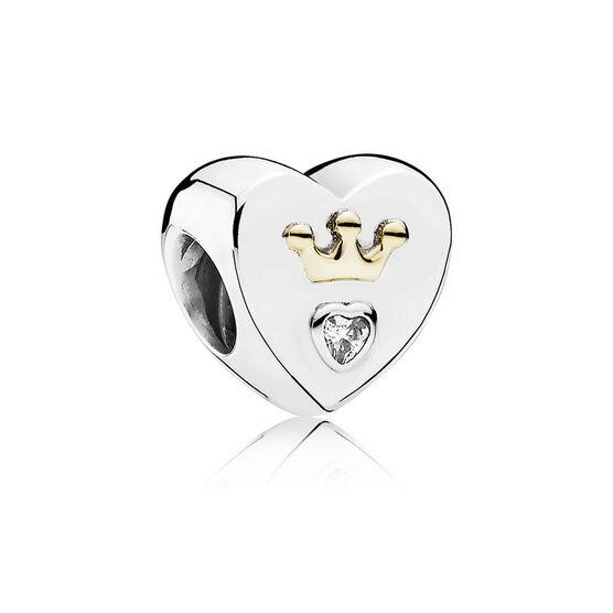 PANDORA Majestic Heart Charm, Silver & 14K