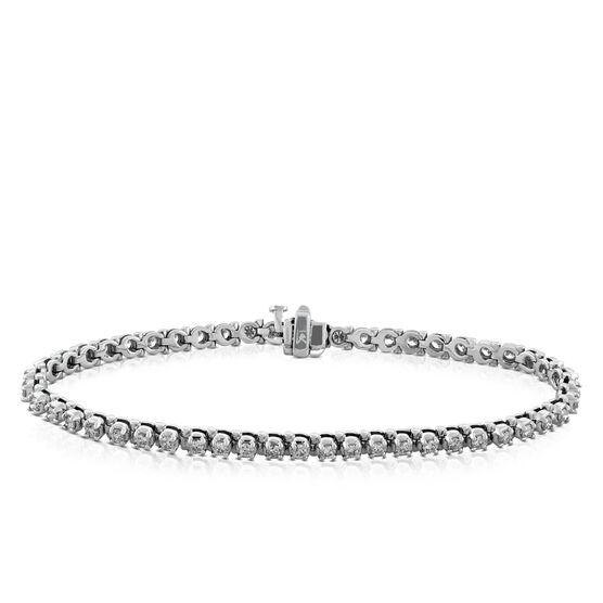 Diamond Line Bracelet, 2 ctw, 14K