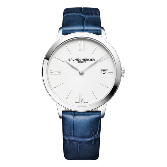 Baume & Mercier CLASSIMA Blue Leather Strap Watch