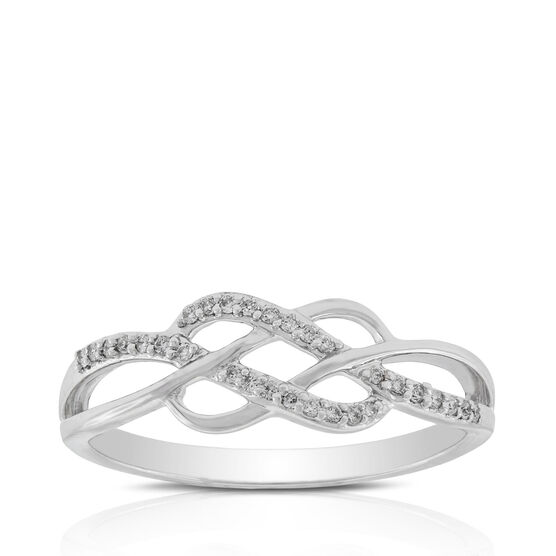 Braided Diamond Ring 14K