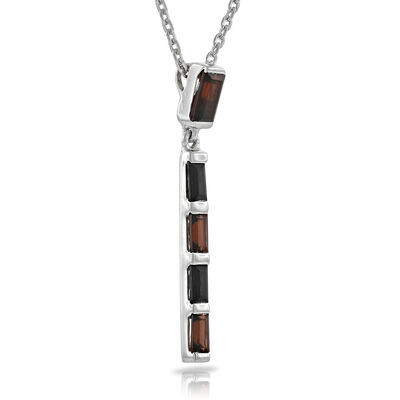 Lisa Bridge Garnet & Black Onyx Stick Pendant
