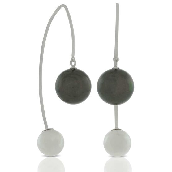 Cultured Pearl Threader Earrings 14K