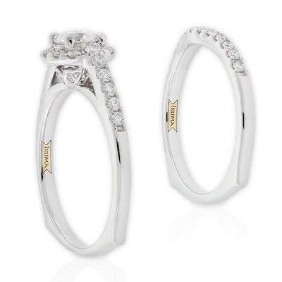 Ikuma Canadian Ideal Cut Diamond Bridal Set 14K
