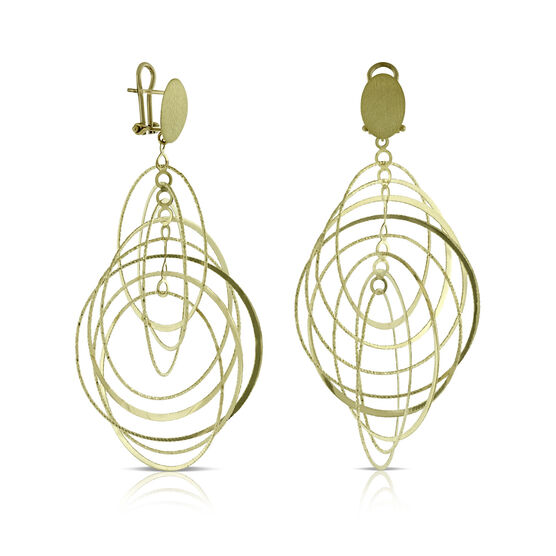 Toscano Multi Circle  Earrings 14K