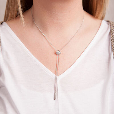 Bolo Diamond Necklace 14K