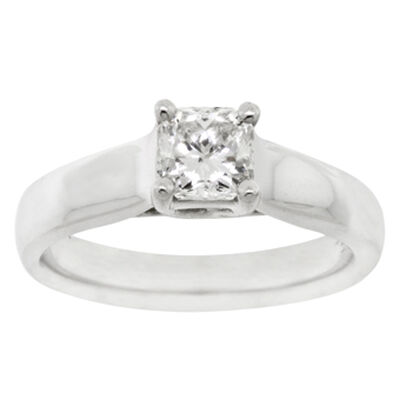 Ikuma Canadian Princess Cut Diamond Solitaire Ring 14K, 3/4 ct.