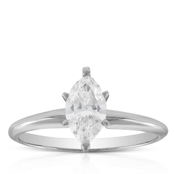 Marquise Cut Solitaire Ring 14K, 3/4 ct.