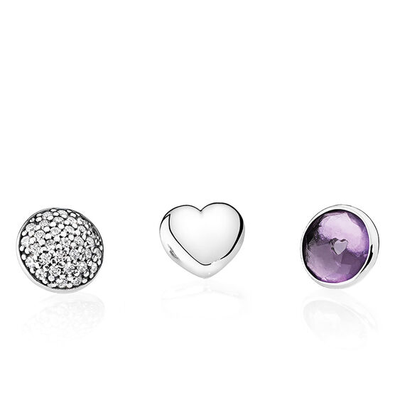 PANDORA February Petites Locket Elements
