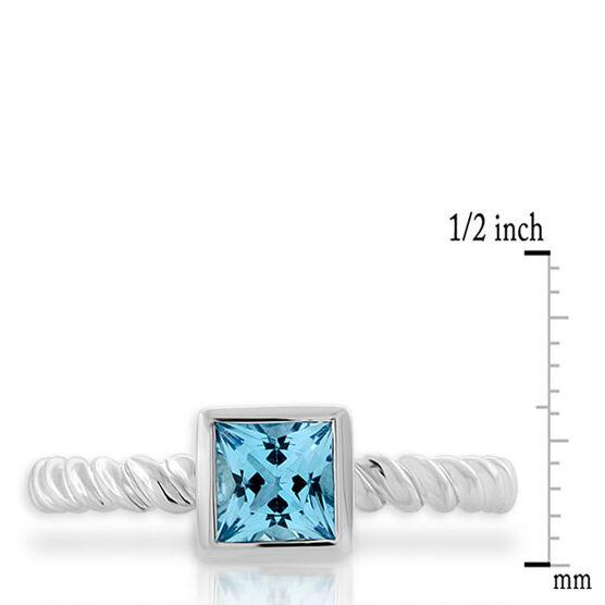 Blue Topaz Stackable Ring 14K