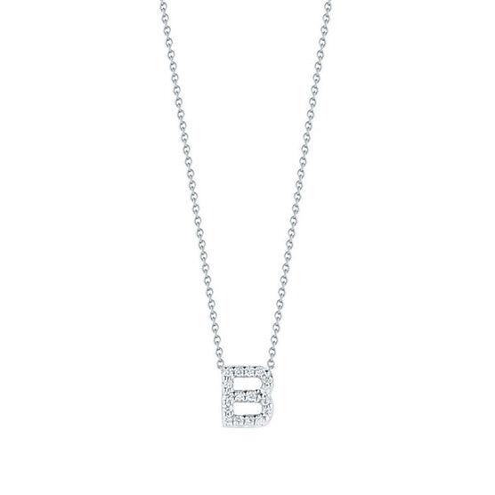 Roberto Coin Diamond Initial Pendant 18K Letter 'B'