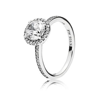 pandora classic elegance cz ring - Pandora Wedding Rings