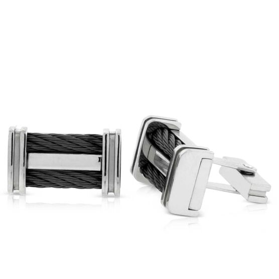 Edward Mirell Cable Squared Cuff Links