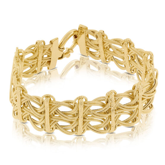 Toscano Collection Interwoven Link Bracelet 14K
