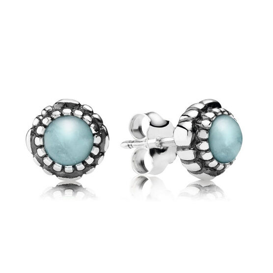 PANDORA Birthday Blooms March Earrings