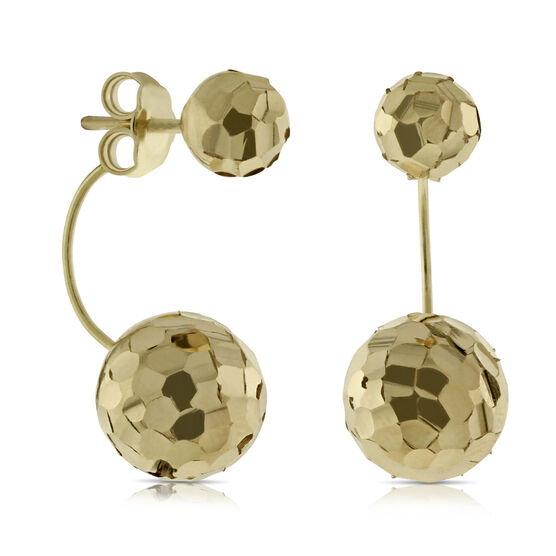 Toscano Collection Double Ball Earrings 14K