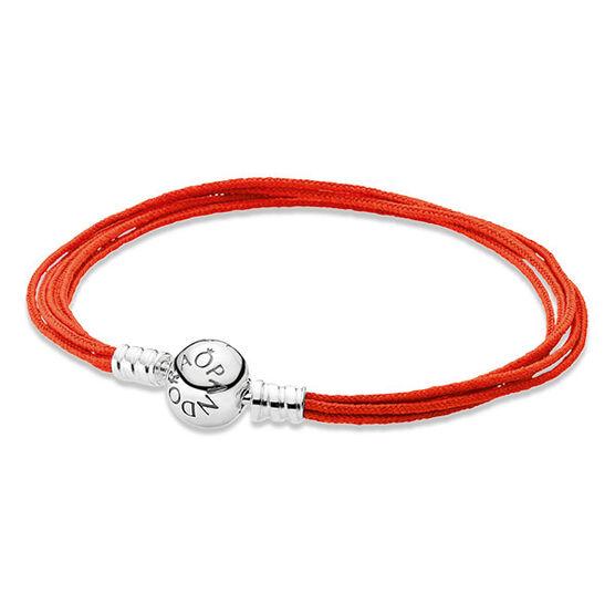 "PANDORA Multi-Strand Orange Cord Bracelet, 7.5"" RETIRED"