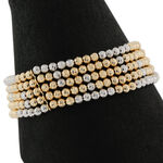 Toscano Two-Tone Beaded Row Bracelet 18K