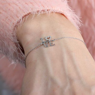LOVE Diamond Bracelet 14K