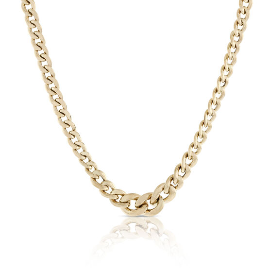 Toscano Collection Graduated Curb Necklace 18K