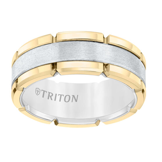 TRITON Yellow & White Tungsten Band