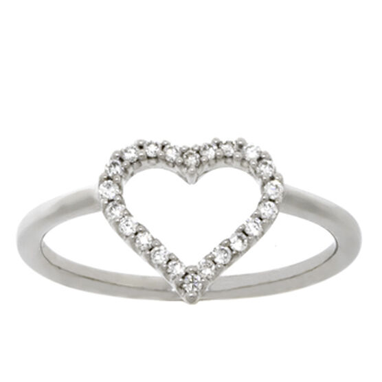 Diamond Heart Ring 14K