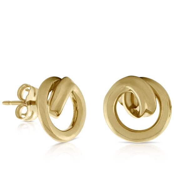 Curl Earrings 14K