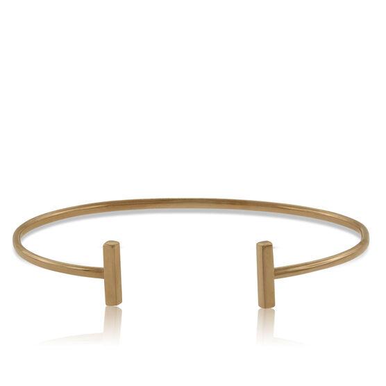 Bar Cuff Bracelet 14K Rose