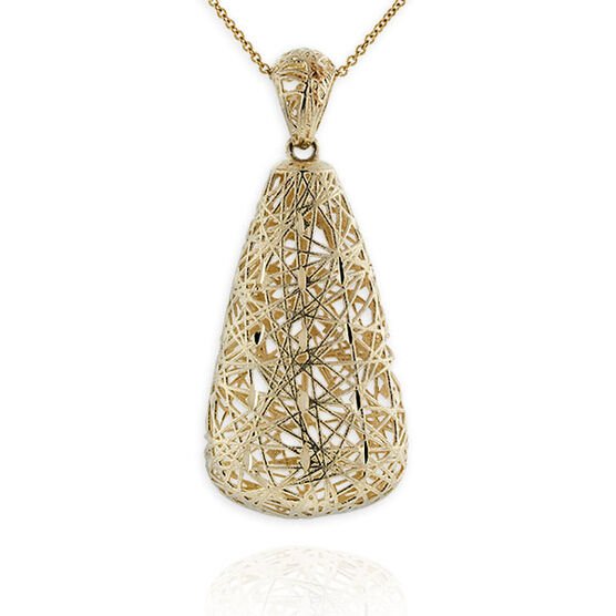 Toscano Collection Thread Pendant 14K