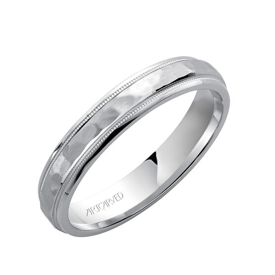 ArtCarved White Gold Woodbridge Band 14K