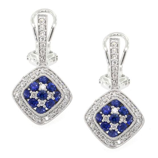 Sapphire & Diamond Earrings 18K