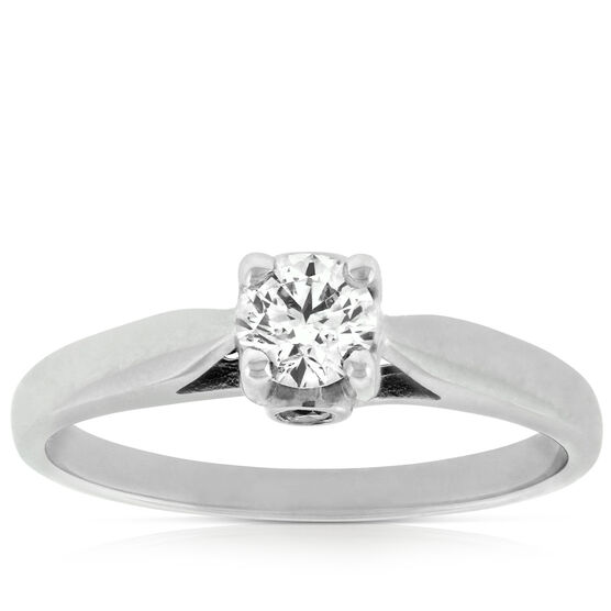 Ikuma Canadian Ideal Cut Diamond Solitaire 14K
