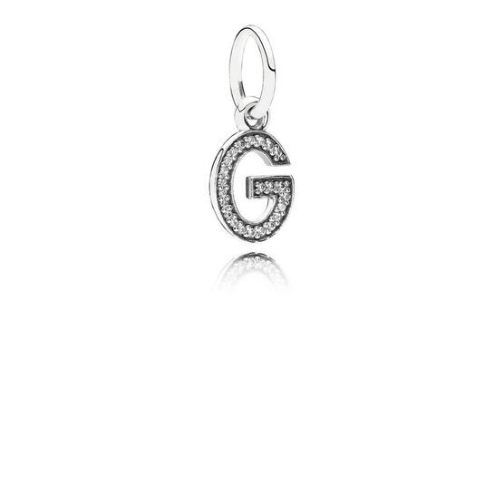 PANDORA CZ Dangle 'G' Charm