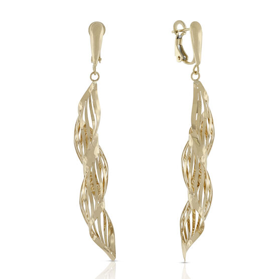 Toscano Swirl Dangle Earrings 18K