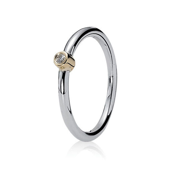 PANDORA Morning Star Ring, Silver & 14K RETIRED