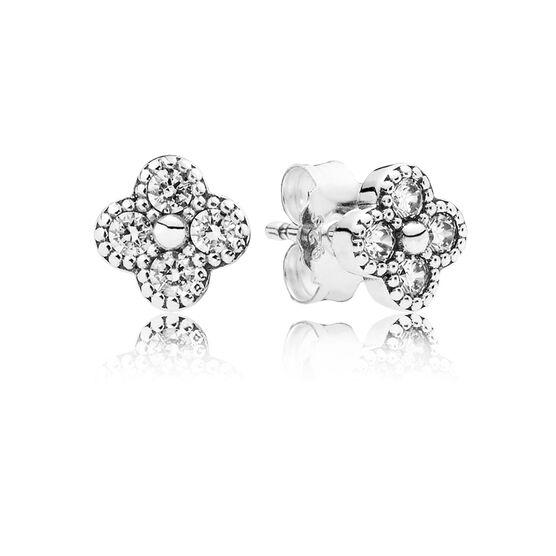 PANDORA Oriental Blossom CZ Earrings