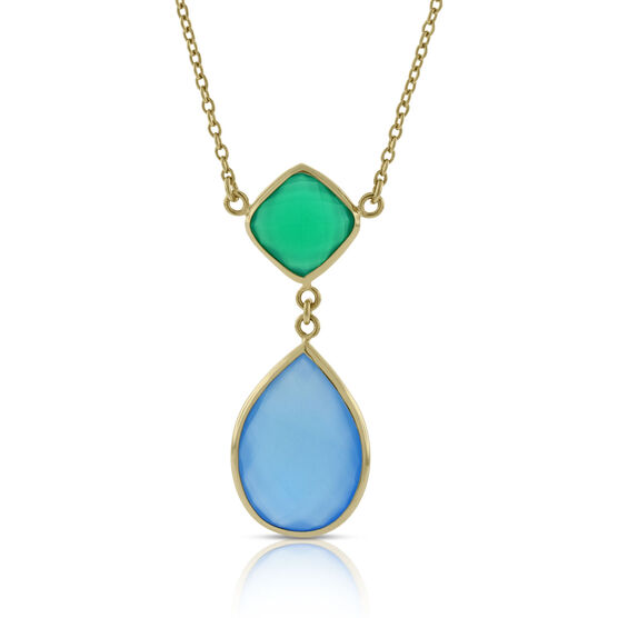 Lisa Bridge Agate & Chalcedony Necklace 14K