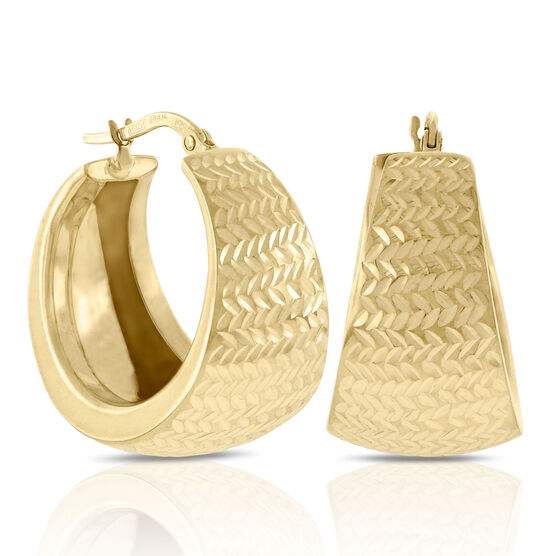 Toscano Collection Hoop Earrings 14K