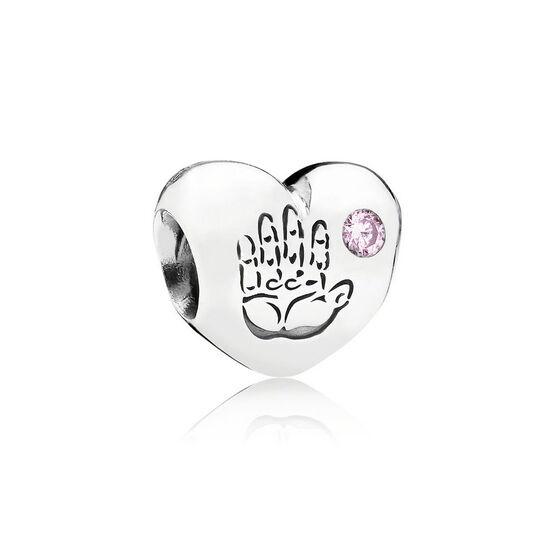 PANDORA Baby Girl CZ Heart Charm