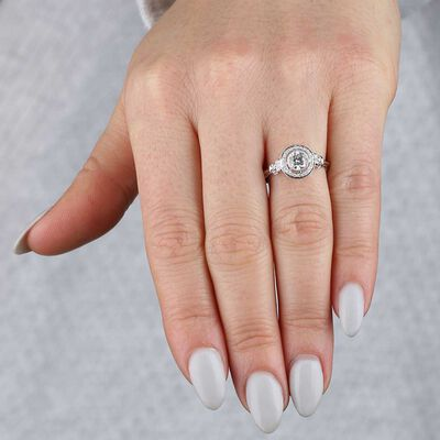Bezel Set Diamond Ring 14K