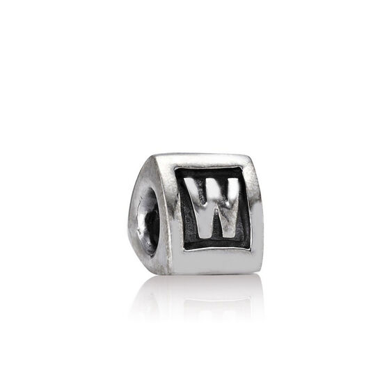 PANDORA Alphabet 'W' Charm RETIRED