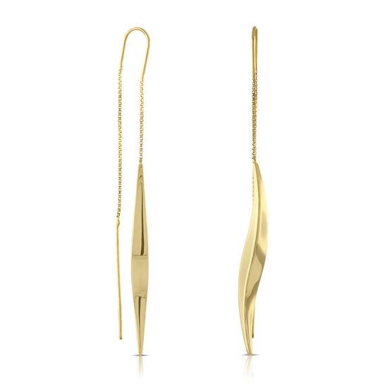Twist Threader Earrings 14K
