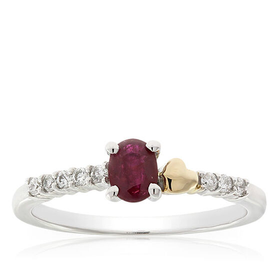 Eternal Valentine Ruby & Diamond Ring 14K