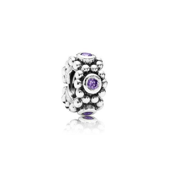 PANDORA Her Majesty Purple CZ Charm