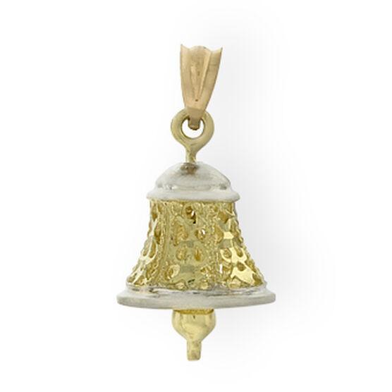 Filigree Bell Charm / Pendant 14K