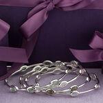 Lisa Bridge Rose Quartz Station Bangle Bracelet
