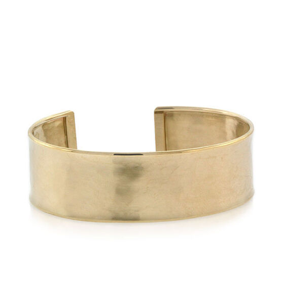 Toscano Collection Satin Cuff Bracelet 14K