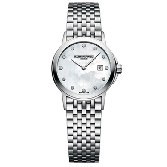 Raymond Weil Tradition Mother-of-Pearl Diamond Watch